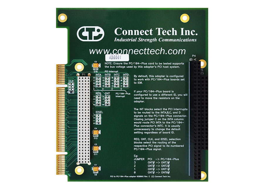 PCI to PC/104-Plus Adapter - Connect Tech Inc